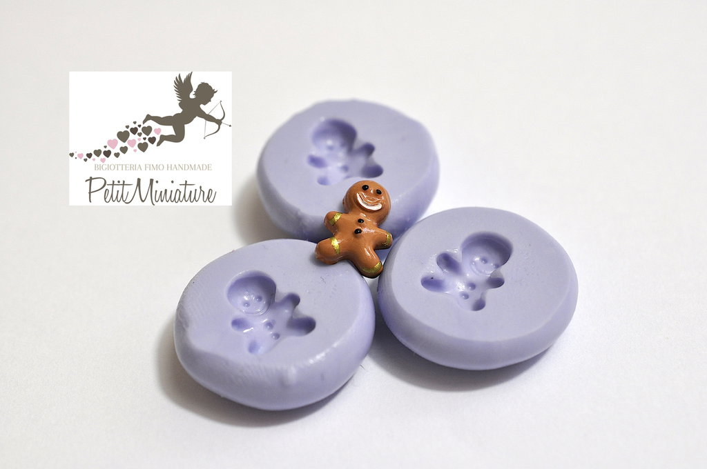 Stampo Silicone Gingerbread 10mm -Stampo Natale-Stampo Gioielli charm Kawaii ST245