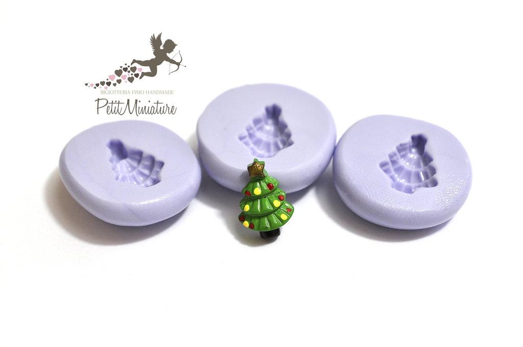 Stampo Silicone Albero Di Natale 13mm -Stampo Natale-Stampo Gioielli charm Kawaii ST246