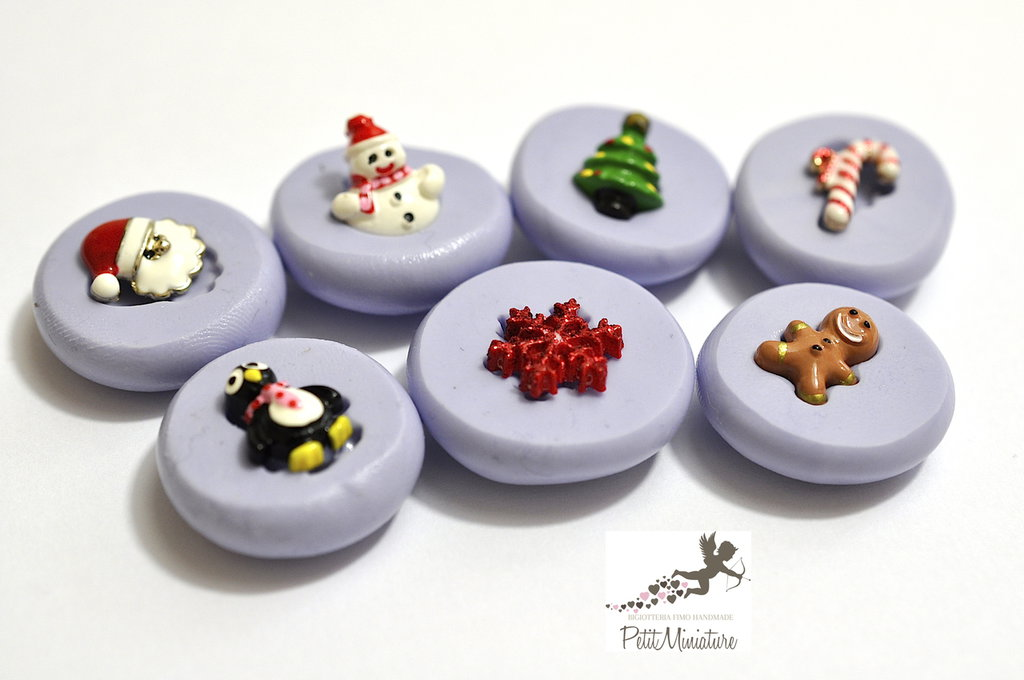 Kit Stampo Silicone Natale 10mm 7Stampi -Stampo Natale-Stampo Gioielli charm Kawaii ST247