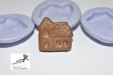 Stampo Silicone Gingerbread House 2,5cm -Stampo Natale-Stampo Gioielli charm Kawaii ST248
