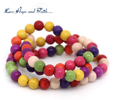 OFFERTA!!! LOTTO 10 perle in simil howlite (8mm) (cod.00000)