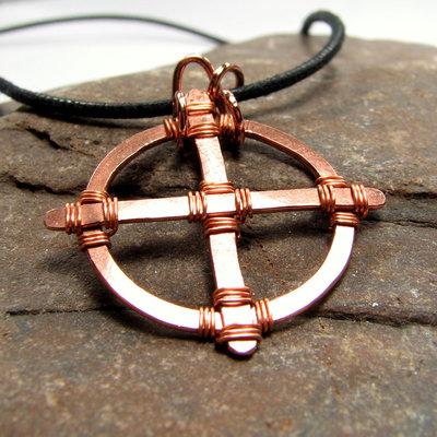 Croce Celtica ciondolo - ciondolo in rame, uomo, donna, simbolo celtico