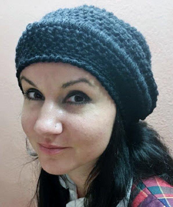 cappello donna fatto a mano, colore nero