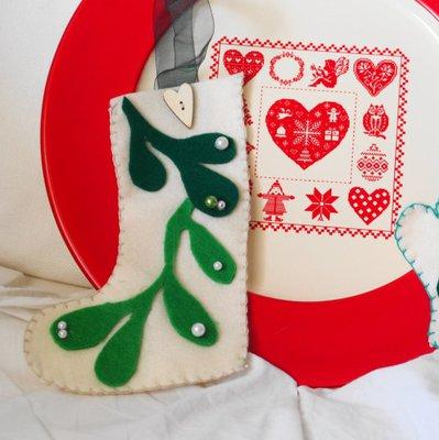 CALZA di Natale o della EPIFANIA.Perfetto ornamento invernale.DECORAZIONE per l'albero,la porta,il salotto,dono con dolci.Gioco per bimbo