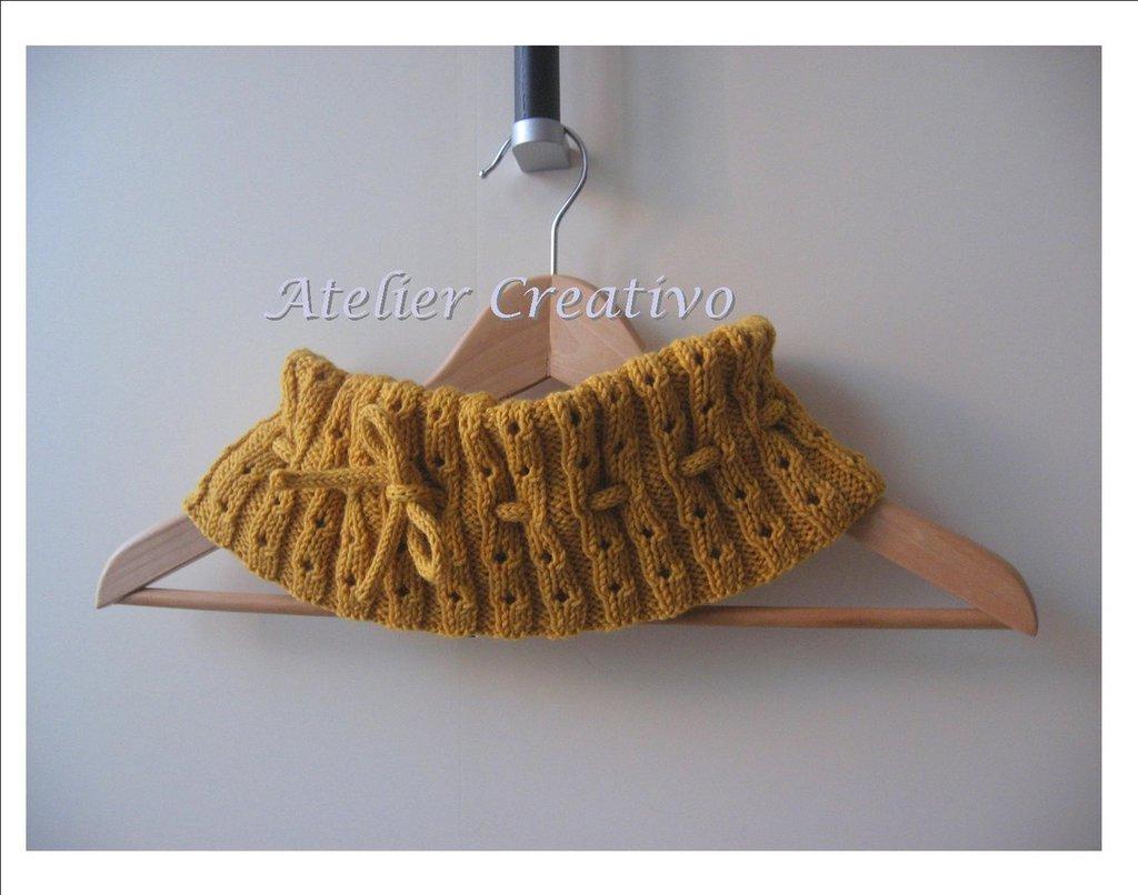 *SALD* - Scaldacollo in lana - giallo senape