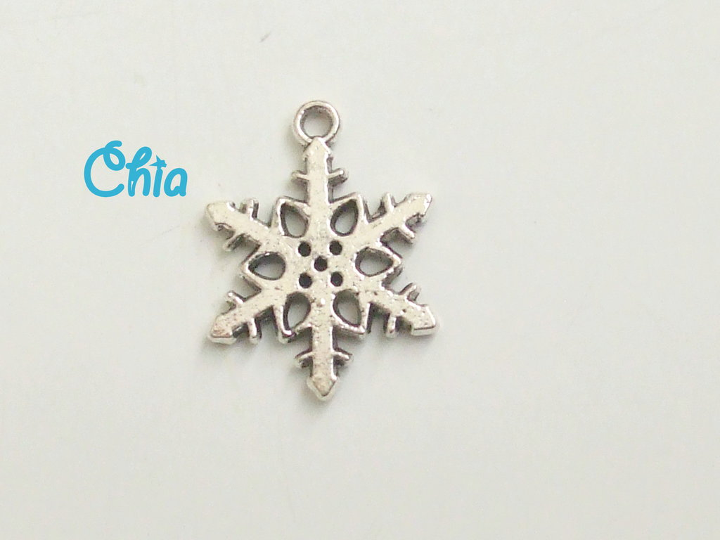 7 charms fiocco di neve 18x10mm
