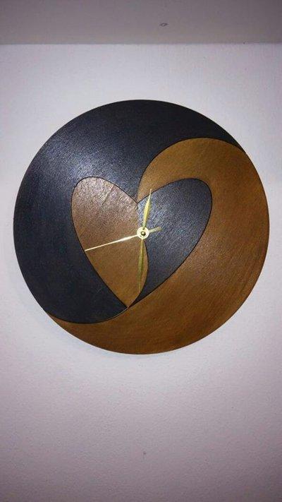 Orologio Yin e Yang a Cuore
