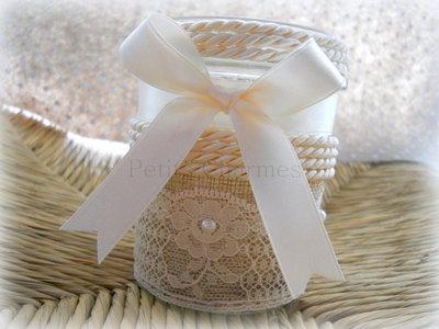 Porta-candela con cero profumato realizzato a mano