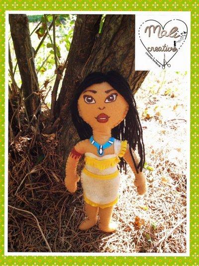 Bambolina in pannolenci Pocahontas
