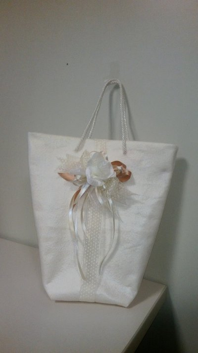 Wedding bag bustina in stoffa regalo ospiti uso portabomboniera