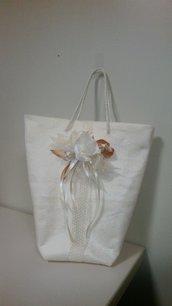 Wedding bag bustina in stoffa regalo ospiti uso portabomboniera