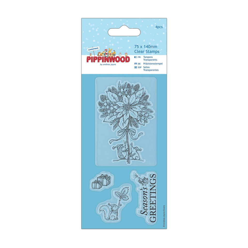 "Clear Stamp - Pippinwood Christmas ""Poinsettia"""