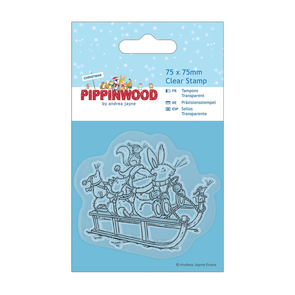 "Clear Stamp - Pippinwood Christmas ""Sledge"""