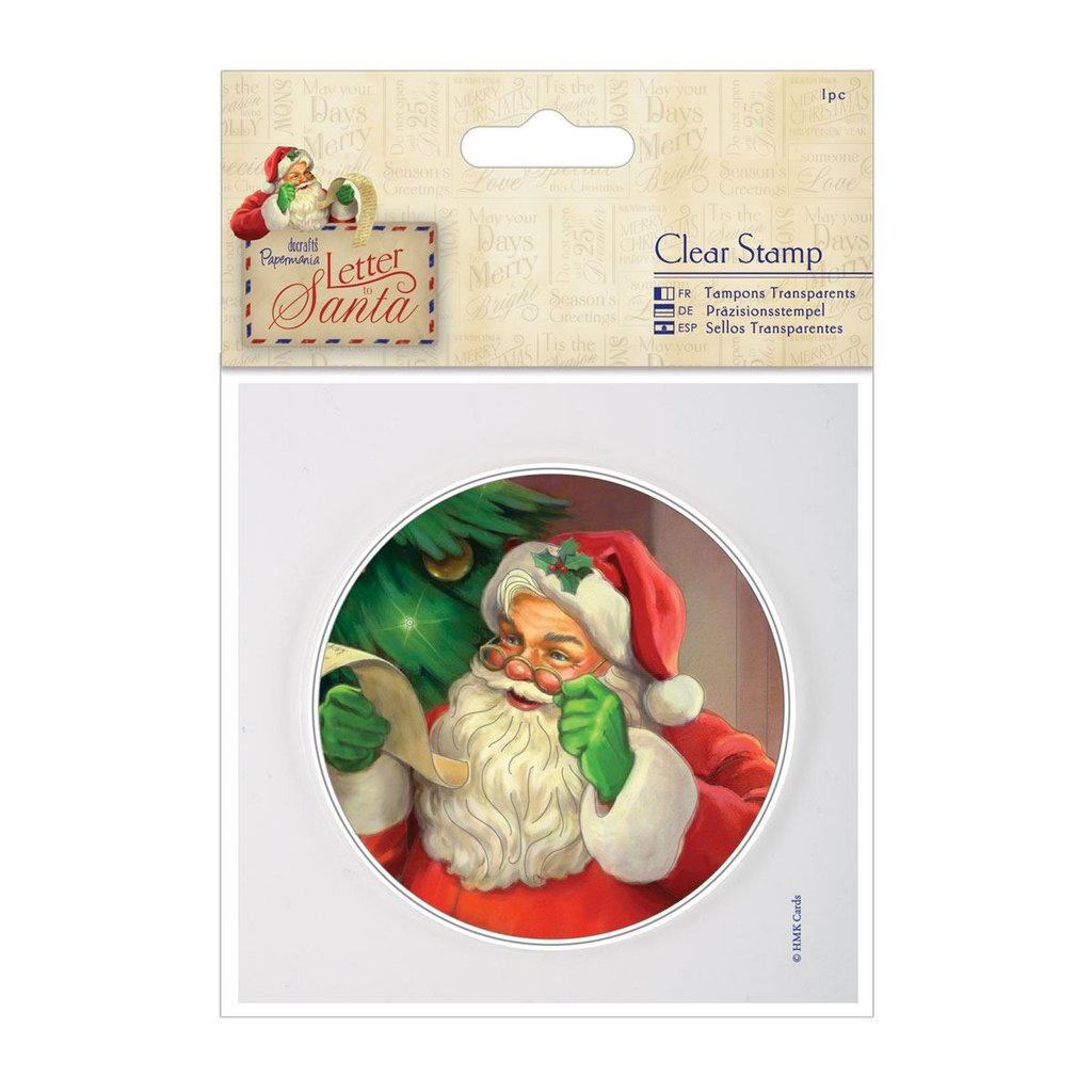 "Clear Stamp - Letter to Santa ""Santa"""
