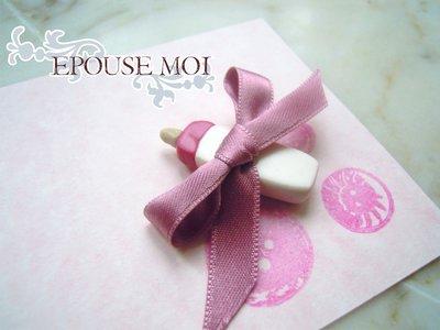 bigliettini nascita !! con biberon in fimo rosa