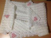 Copertina neonata morbida e calda , per carrozzina e culla