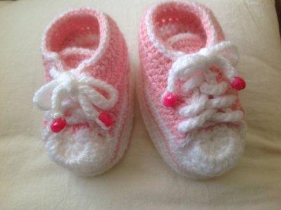 Scarpe da ginnastica neonata bianche e rosa