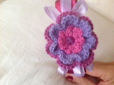 Cerchietto  per capelli bambina in lana