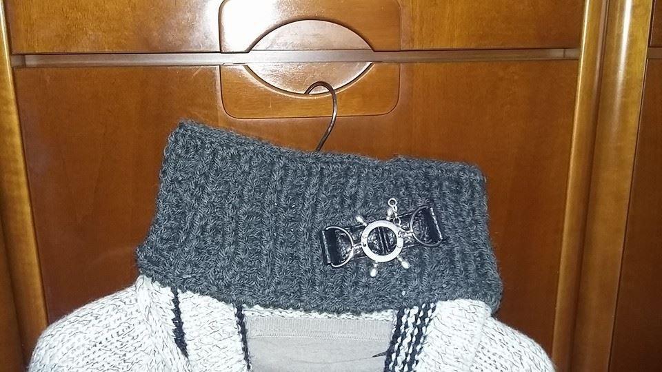 scaldacollo uomo lana uncinetto