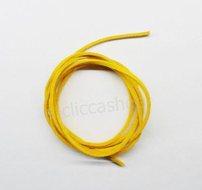 Laccetto in eco pelle tipo alcantara colore giallo 1 pz
