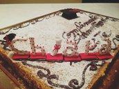 Nome Cake Topper per laurea interamente realizzato a mano in pasta FIMO