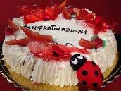 Coccinella Cake Topper per laurea interamente realizzato a mano in pasta FIMO