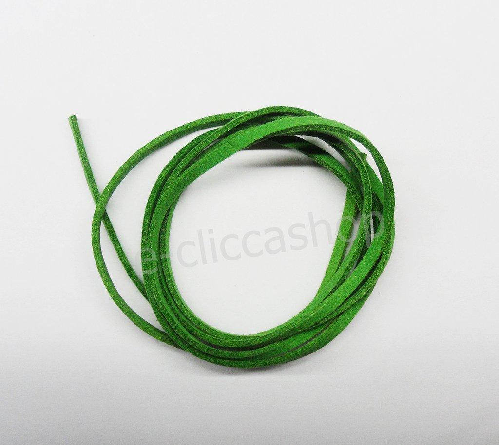 Laccetto in eco pelle tipo alcantara colore verde 1 pz