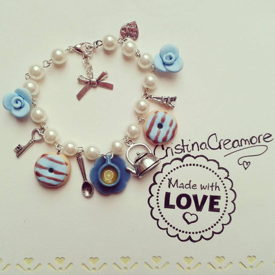 BRACCIALE in fimo THE'