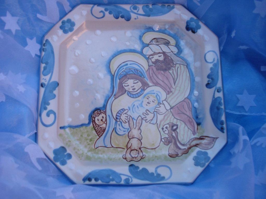 Piatto ottagonalen in ceramica