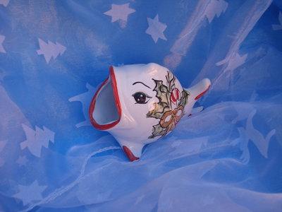 Pesce portastuzzicadenti in ceramica