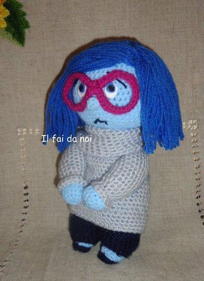 AMIGURUMI TRISTEZZA - INSIDE OUT, uncinetto, crochet