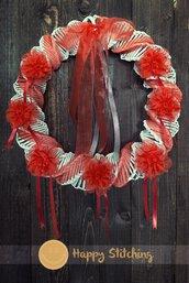 Ghirlanda bianca e rossa