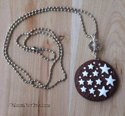 Collana biscotto pan di stelle mulino bianco in fimo
