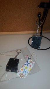 Porta- FRA -Chiave    mod.Borchie  + Confezione  + Pensiero