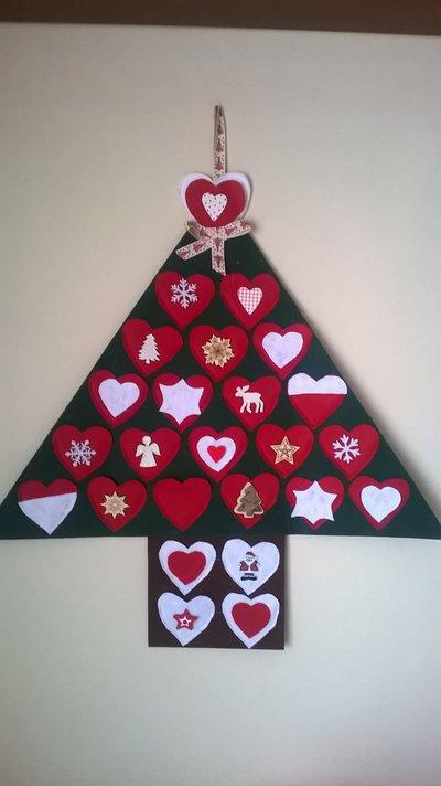 Calendario avvento albero di Natale