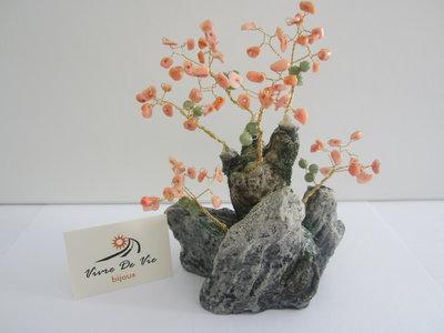 Alberello in  pasta di corallo rosa