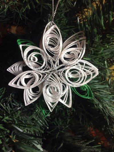 Stella di Natale bianca hanmade