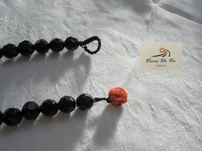 Collana corallo con filo swarovski