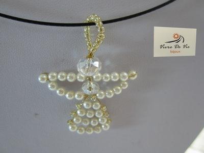 Girocollo metallo con ciondolo di perline