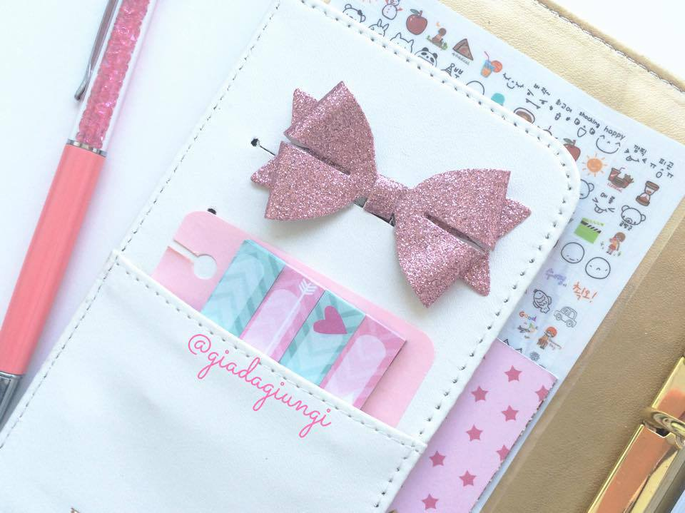 Paperpins lifeplanner-  fiocco rosa