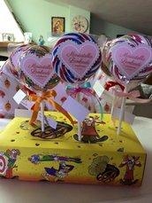 Invito primo compleanno con mega lollipop