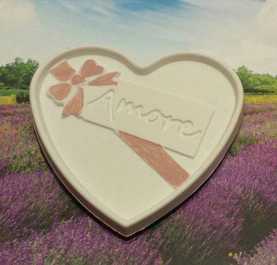 Magnete - gessetto ceramicato cuore