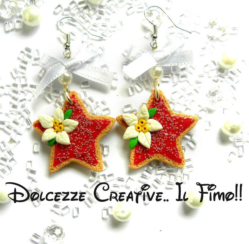 ☃ Natale In Dolcezze 2015 ☃ Orecchini stella biscotto con glassa