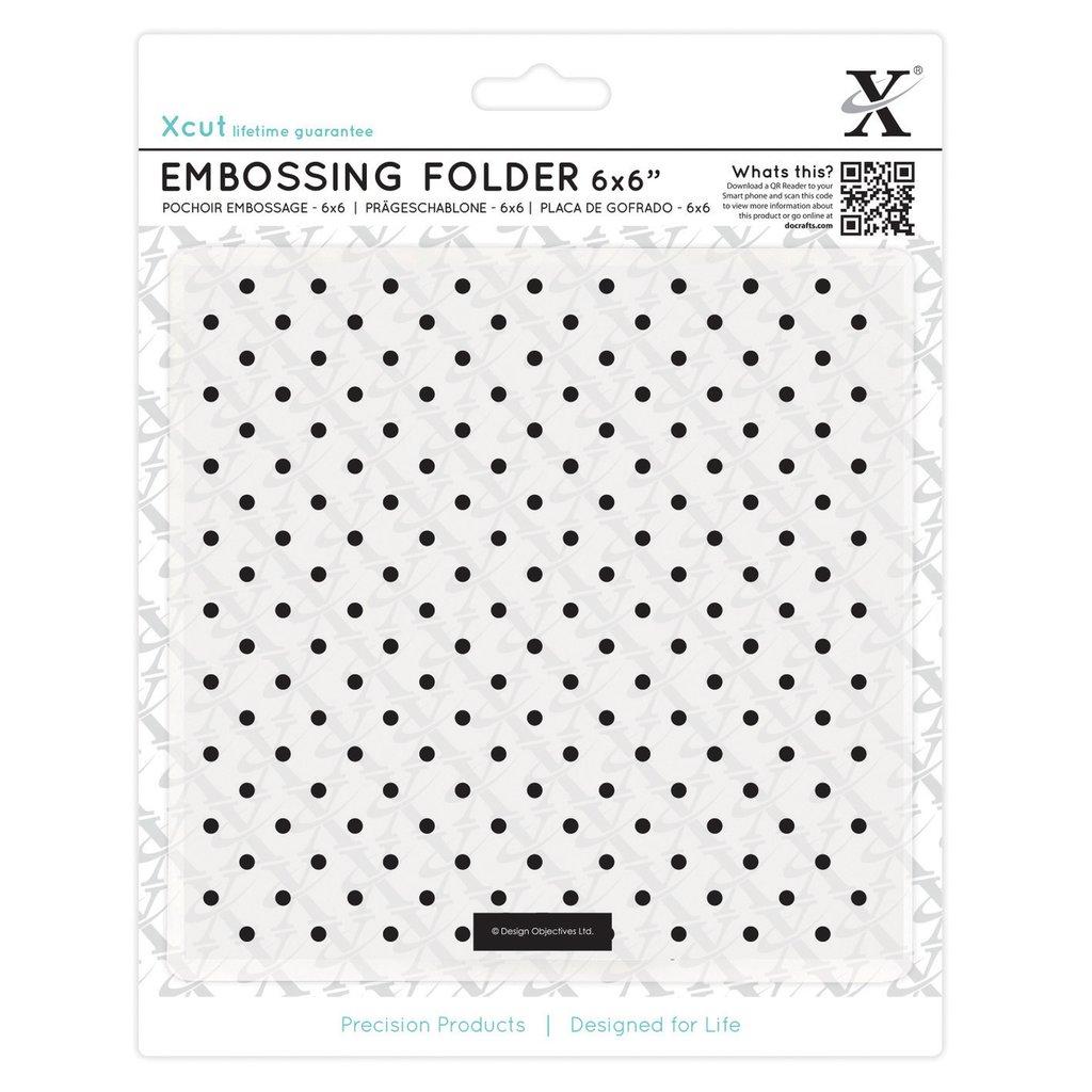 Fustella per embossing 15x15 cm - Small Polka Dot