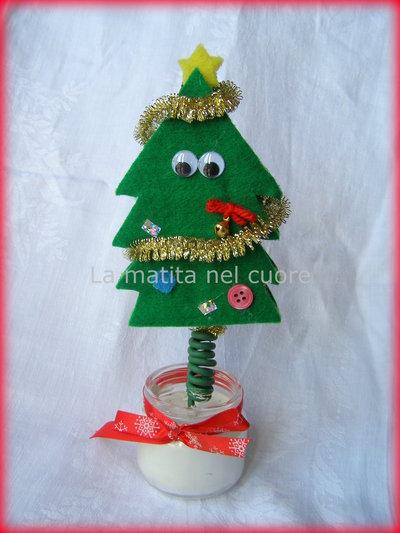 Alberello di Natale addobbato molleggiato segnaposto, portafotografie