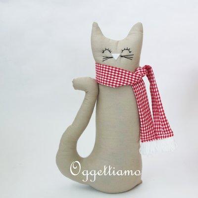 Fermaporta 'Gatto beige': un'idea regalo originale e personalizzabile per voi!