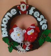 Ghirlanda con gufetti per Natale