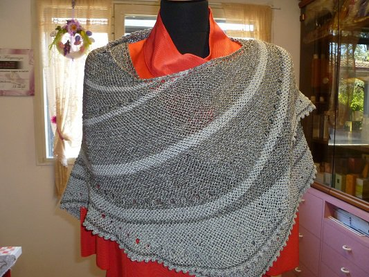 scialle seta cotta grigio