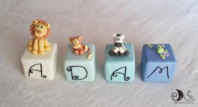 decorazione cameretta bimbi cubi decorativi animaletti a tema giungla