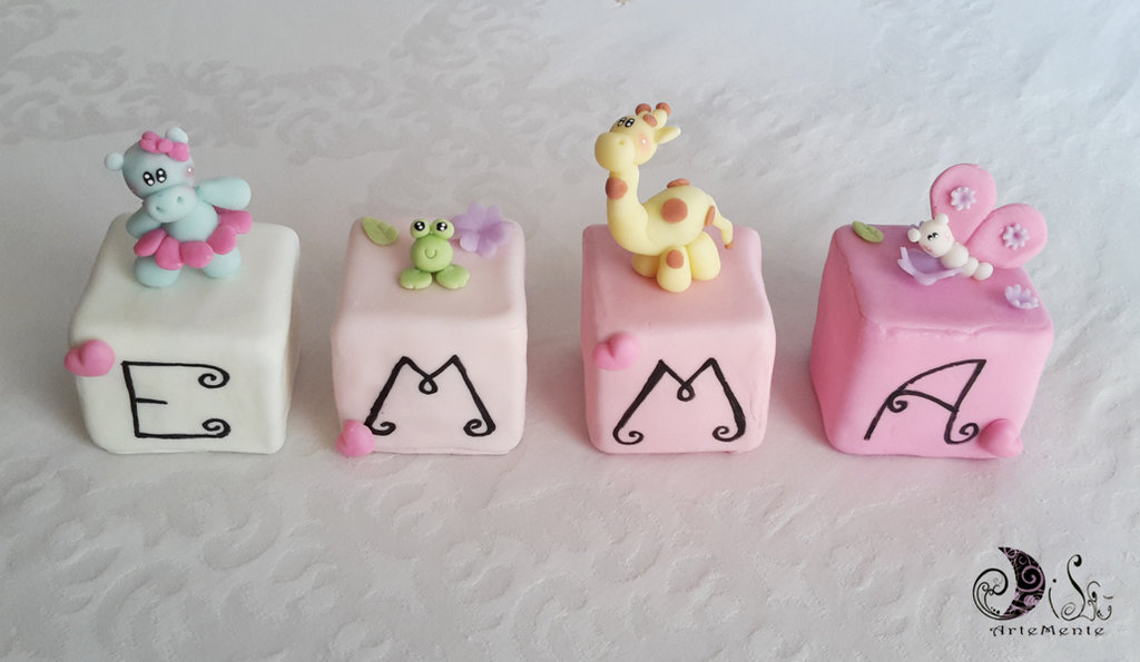 Cubi nome decorativi idea regalo decorazione cameretta bimba animal su misshobby - Decorazione cameretta bimba ...